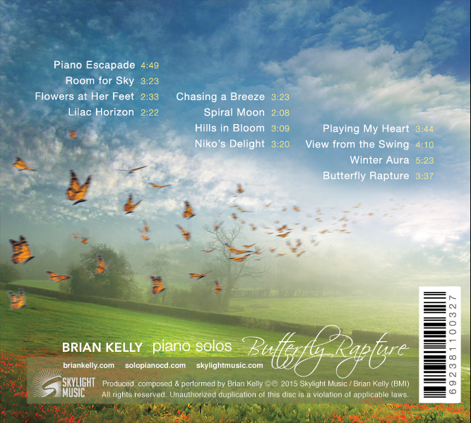 Butterfly Rapture album back cover