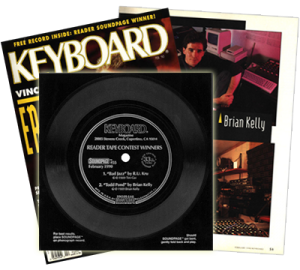 Brian Kelly music - Keyboard Magazine - Soundpage Winner -1990