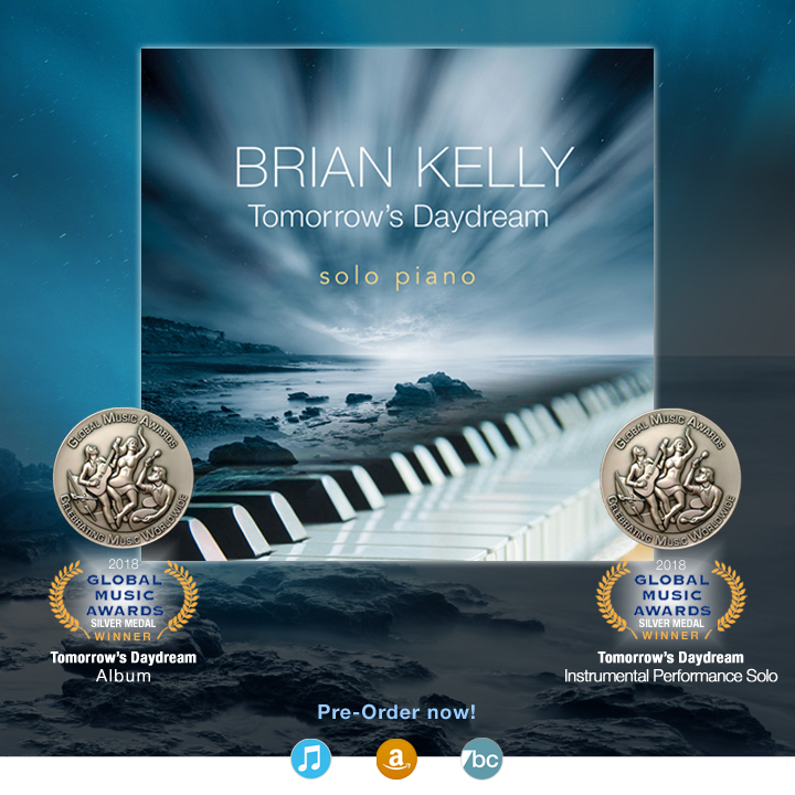 Tomorrow's Daydream by composer Brian Kelly wins two silver medals in the 2018 Global Music Awards.