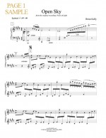 Open Sky - Sheet Music - Brian Kelly composer